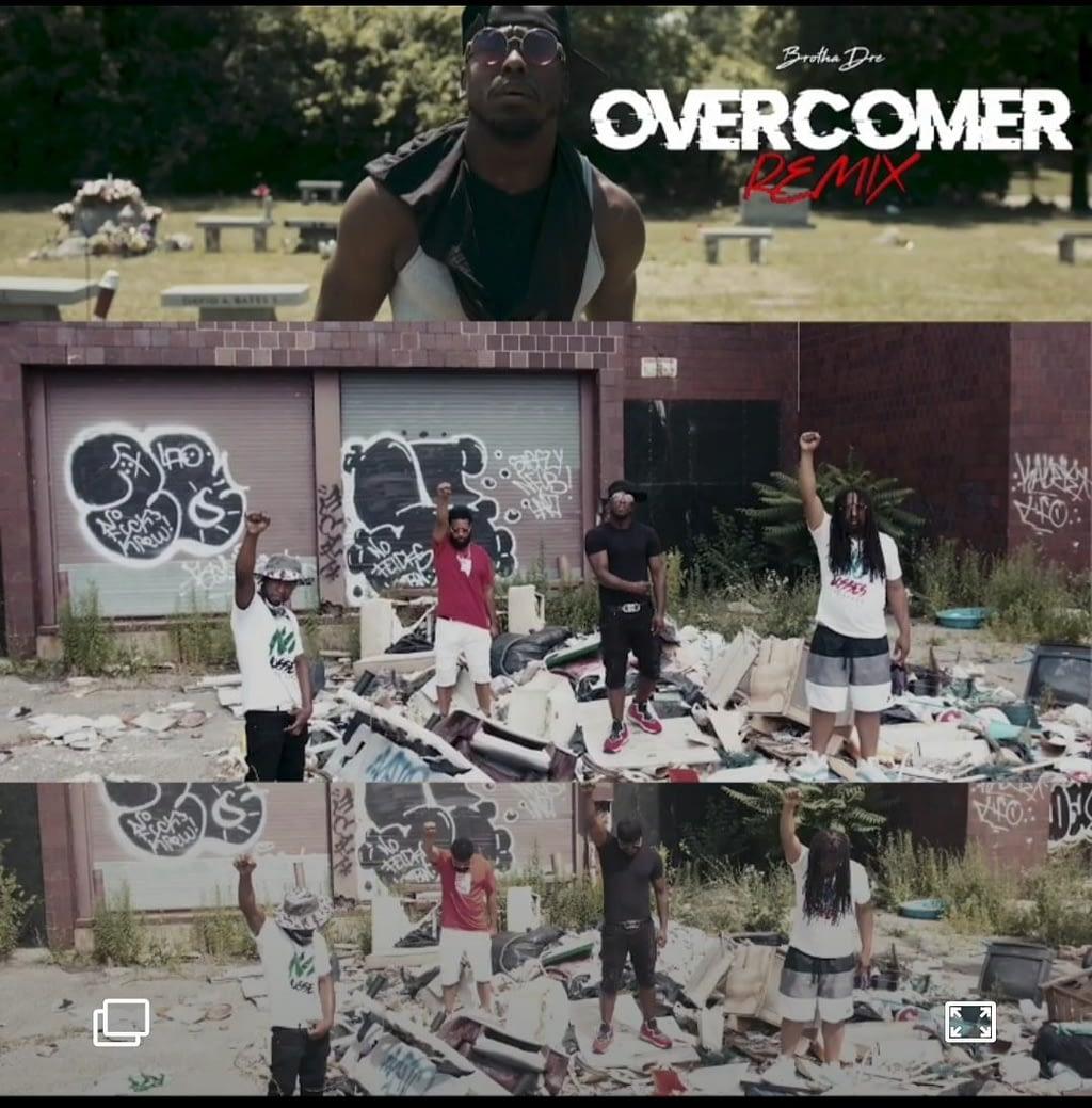 Brotha Dre - Overcomer Remix (feat. A.J., King Sizzl & Tres) Music Video